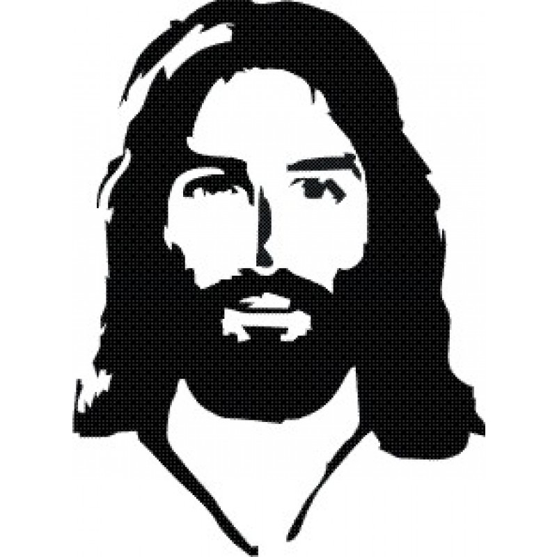 Jesus Face Clipart Jesus Face 2 Decal