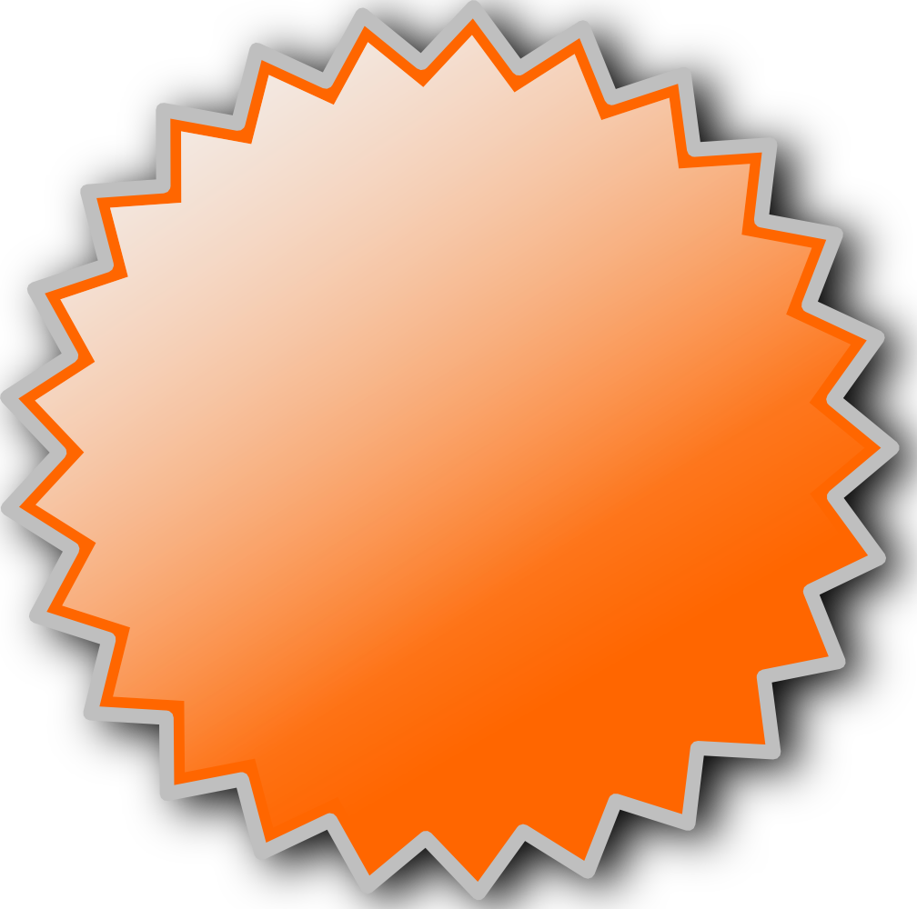 Onlinelabels Clip Art   Basic Starburst Badge
