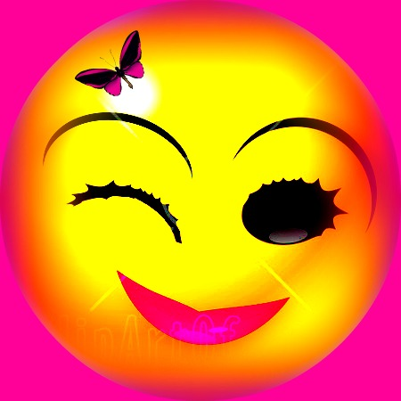 Pink Smiley Face Clip Art Standing High In My Hot Pink