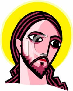 The Face Of Jesus Christ Clip Art Image