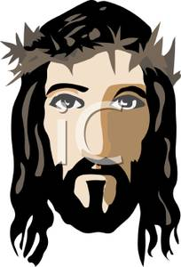 The Face Of Jesus Christ   Royalty Free Clipart Picture
