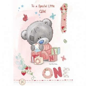Tiny Tatty Teddy First Birthday Card   Me To You Gifts