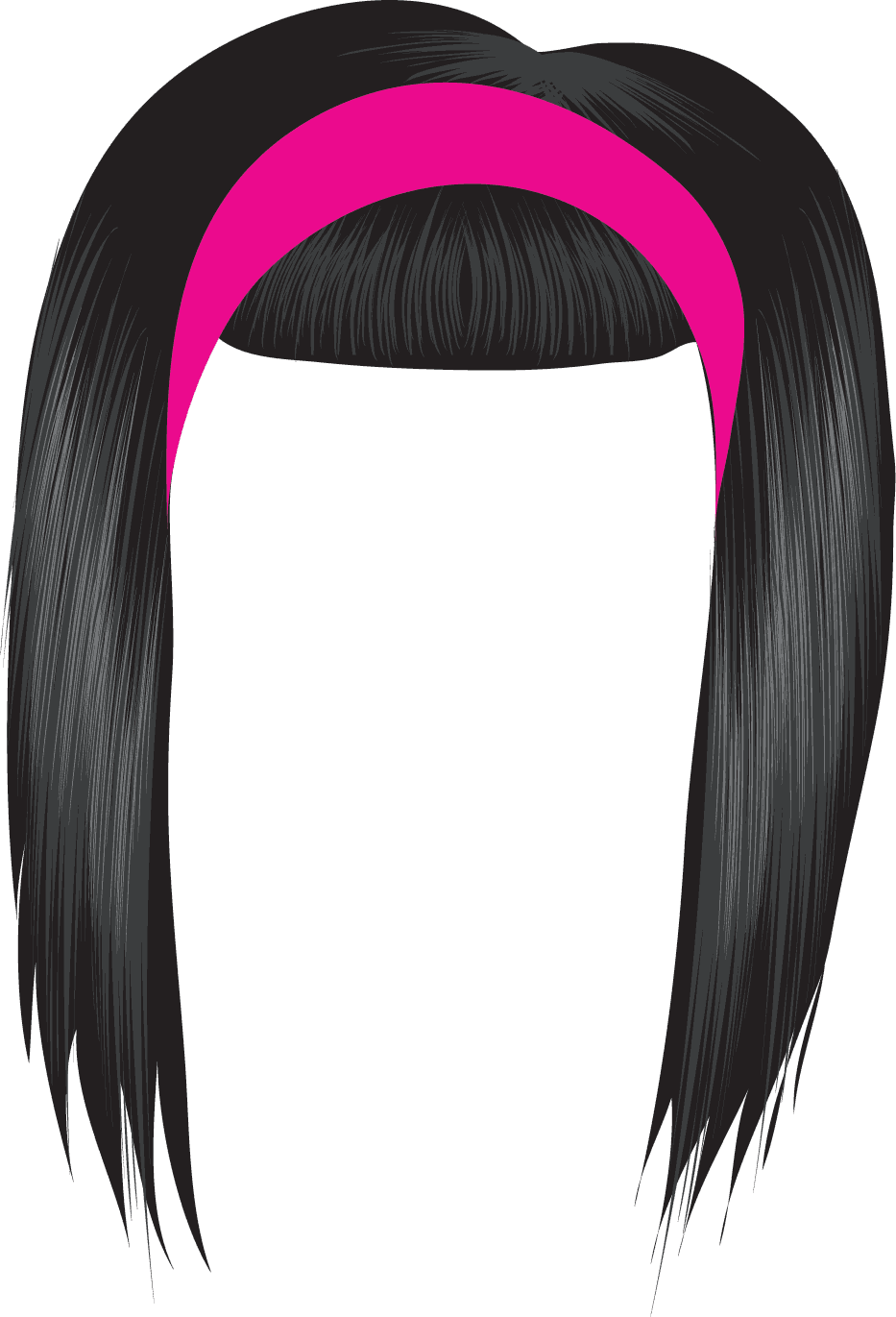 Black Hair Clipart   Clipart Panda   Free Clipart Images