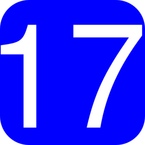 Blue Rounded Square With Number 17 Clip Art At Clker Com   Vector
