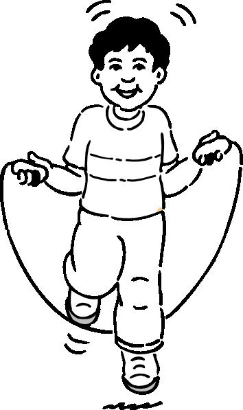 Boy Jumping Rope Clip Art At Clker Com   Vector Clip Art Online