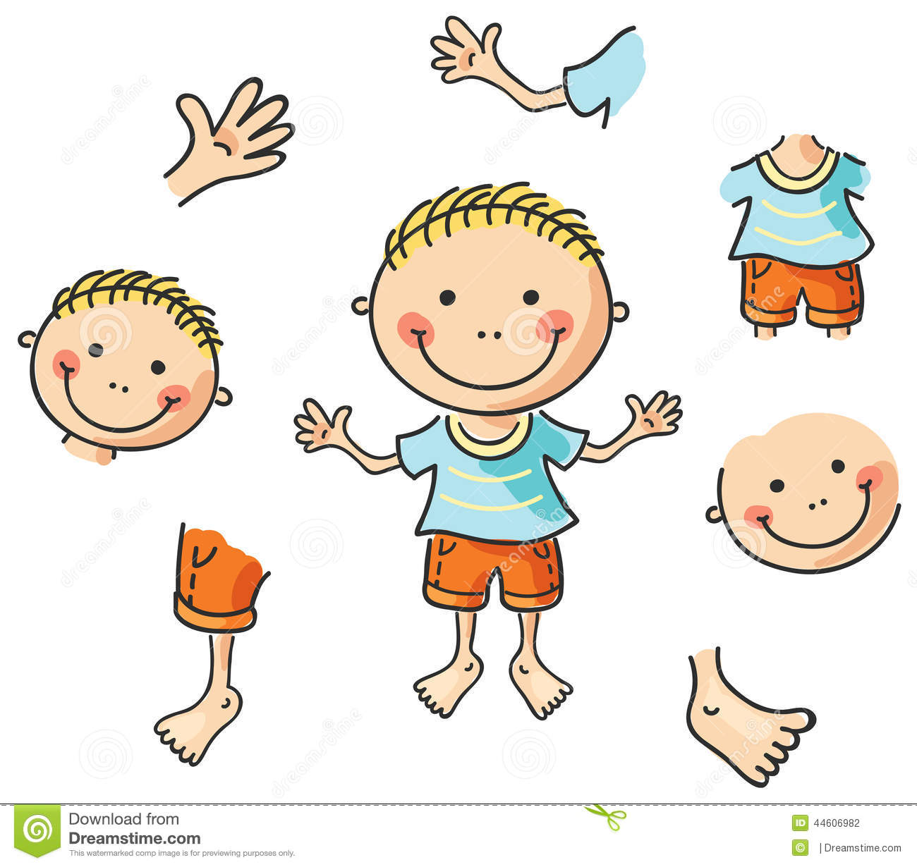 Clip Art Body Clip Art cartoon body clipart kid parts stock vector image 44606982
