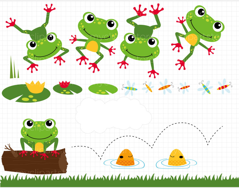 Download Frog Clip Art Frog Cli 05 Cute Frog Cli Frog Cli 500 Px By