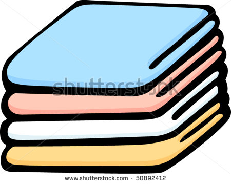 Folded Blanket Clipart Folded Bedding Blankets