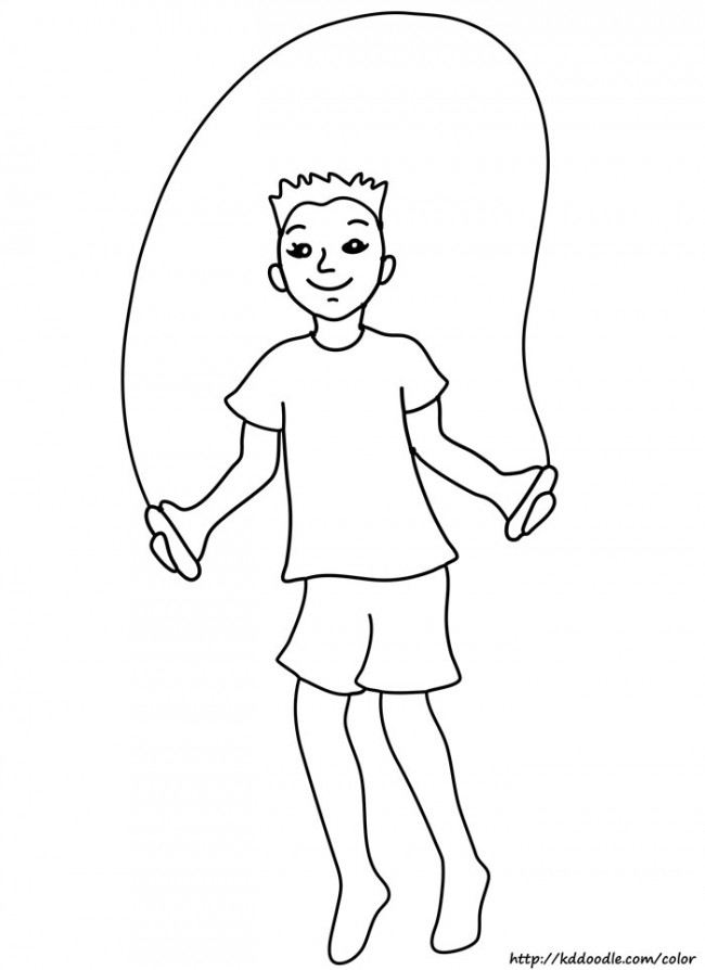 Free Printable Jump Rope Coloring Page   Clipart
