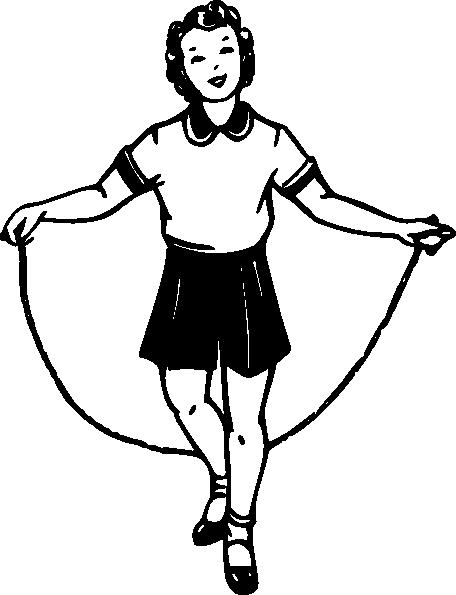 Girl Jumping Clip Art