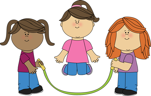 Girls Jumping Rope Clip Art   Girls Jumping Rope Image