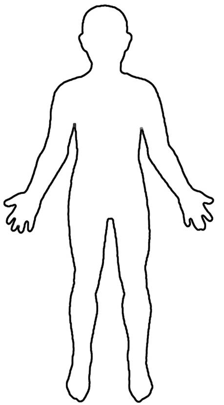 Human Body Outline Clipart Clipart Kid – Template of a Person