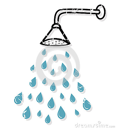 Clip Art Shower Clipart taking a shower clipart kid illustration of head with water drops isolated on white