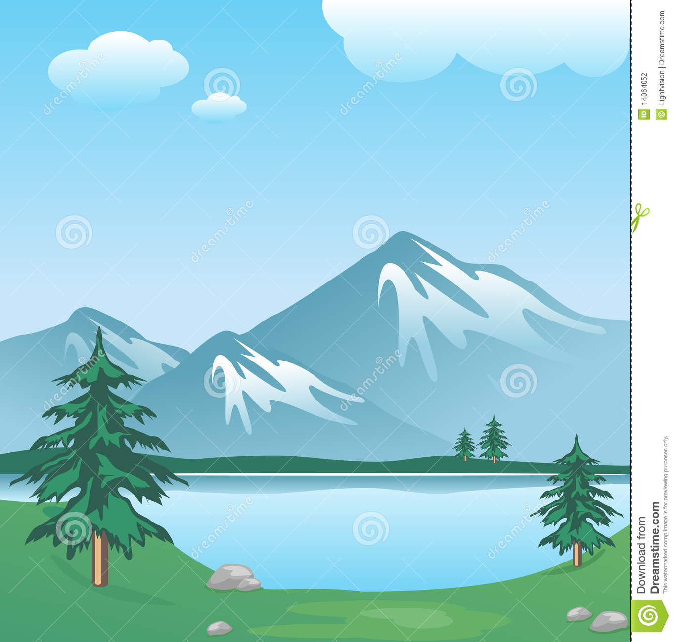 Lake Clipart Lake Trees And Grass In