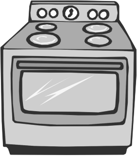 Oven Bw   Http   Www Wpclipart Com Household Kitchen Appliances Oven