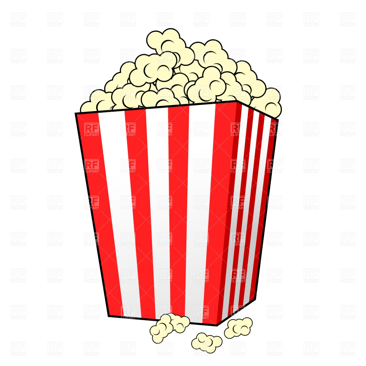 Popcorn Clipart - Clipart Kid