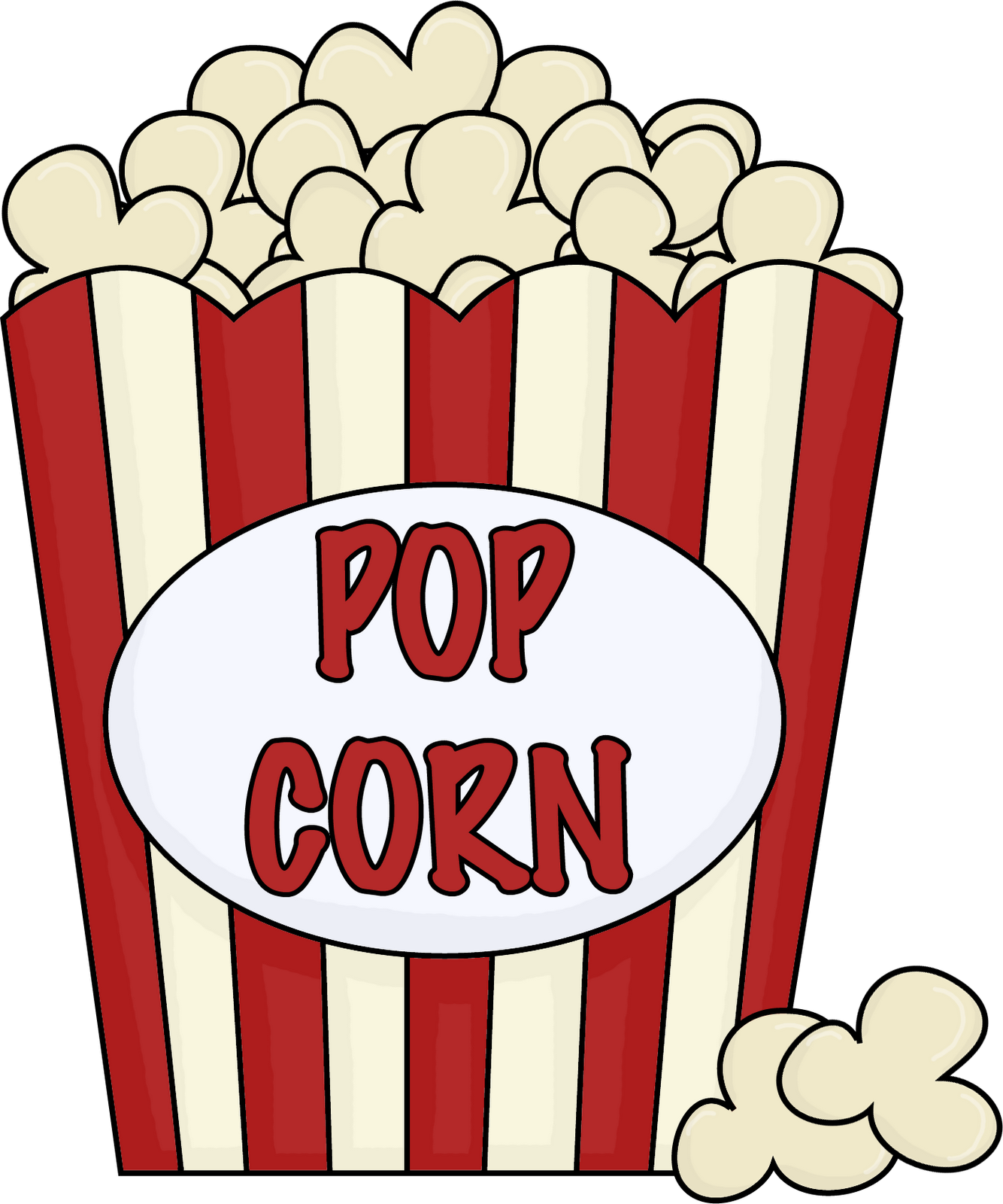Popcorn Bucket Clipart  Clipart Kid