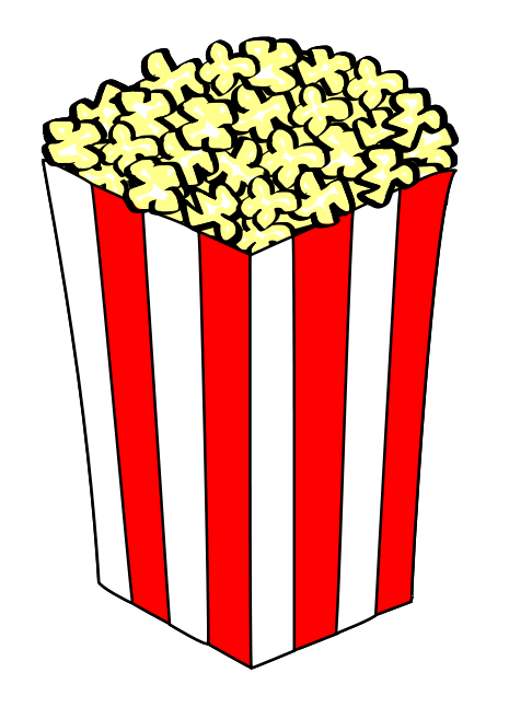 Popcorn Clip Art   Images   Free For Commercial Use