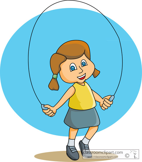 Recreation   Girl Jump Rope 02   Classroom Clipart