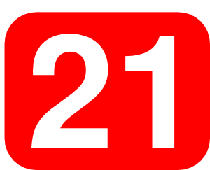 Red Rounded Rectangle With Number 21 Clip Art