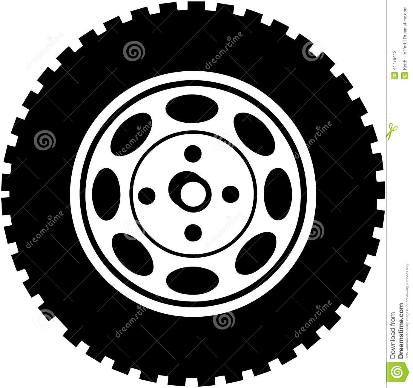 Tire For Car Or Truck Cartoon Vector Clipart Stock Vector   Image