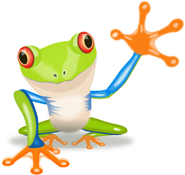 Waving Frog Clip Art At Clker Com   Vector Clip Art Online Royalty