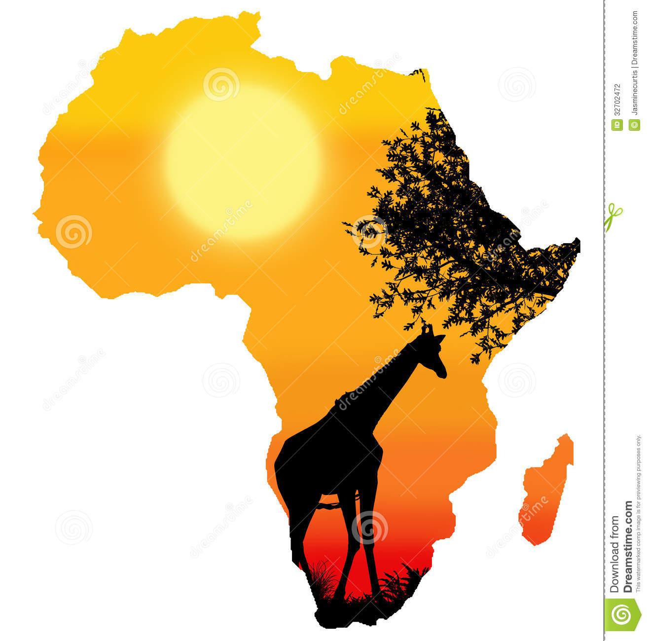 Africa Clipart Africa Safari Silhouette