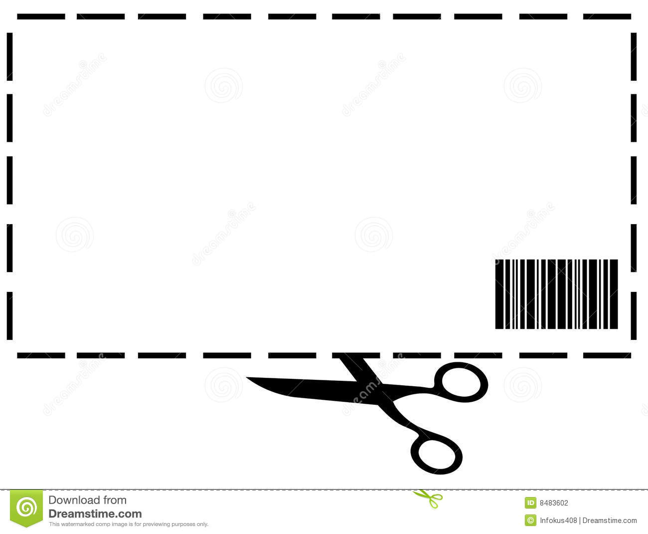 blank coupon clipart clipart kid blank coupon stock photography image 8483602