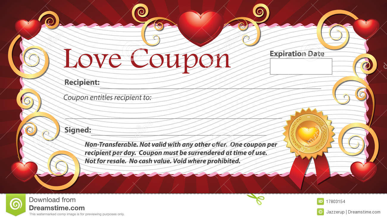 blank coupon clipart clipart kid blank love coupon stock images image 17803154