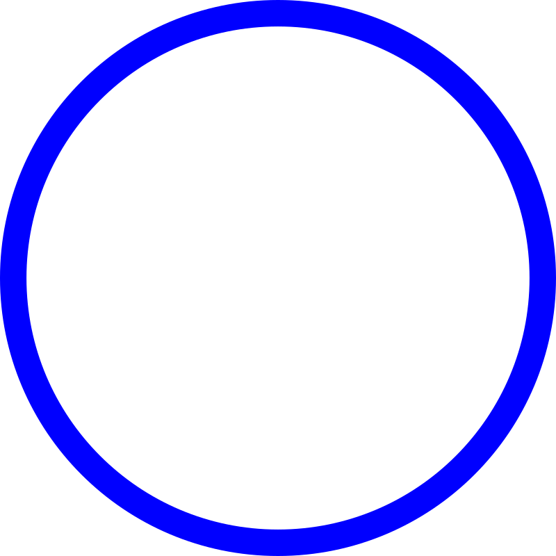 Blue Circle By Mireille   Blue Circle