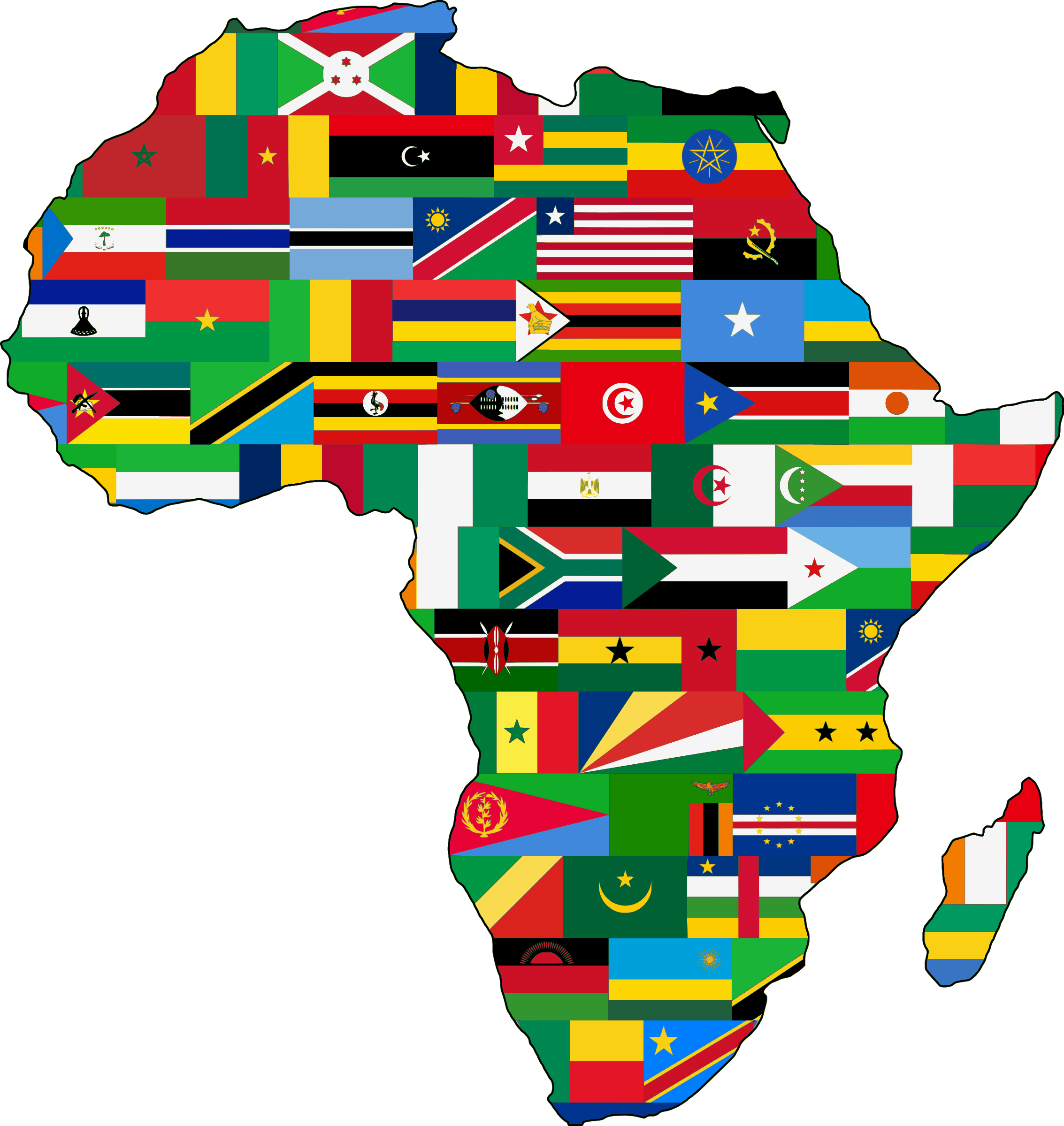 Clipart   Africa Flags