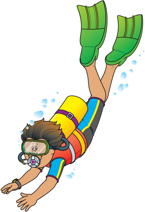 Cartoon Scuba Diver Clipart - Clipart Kid