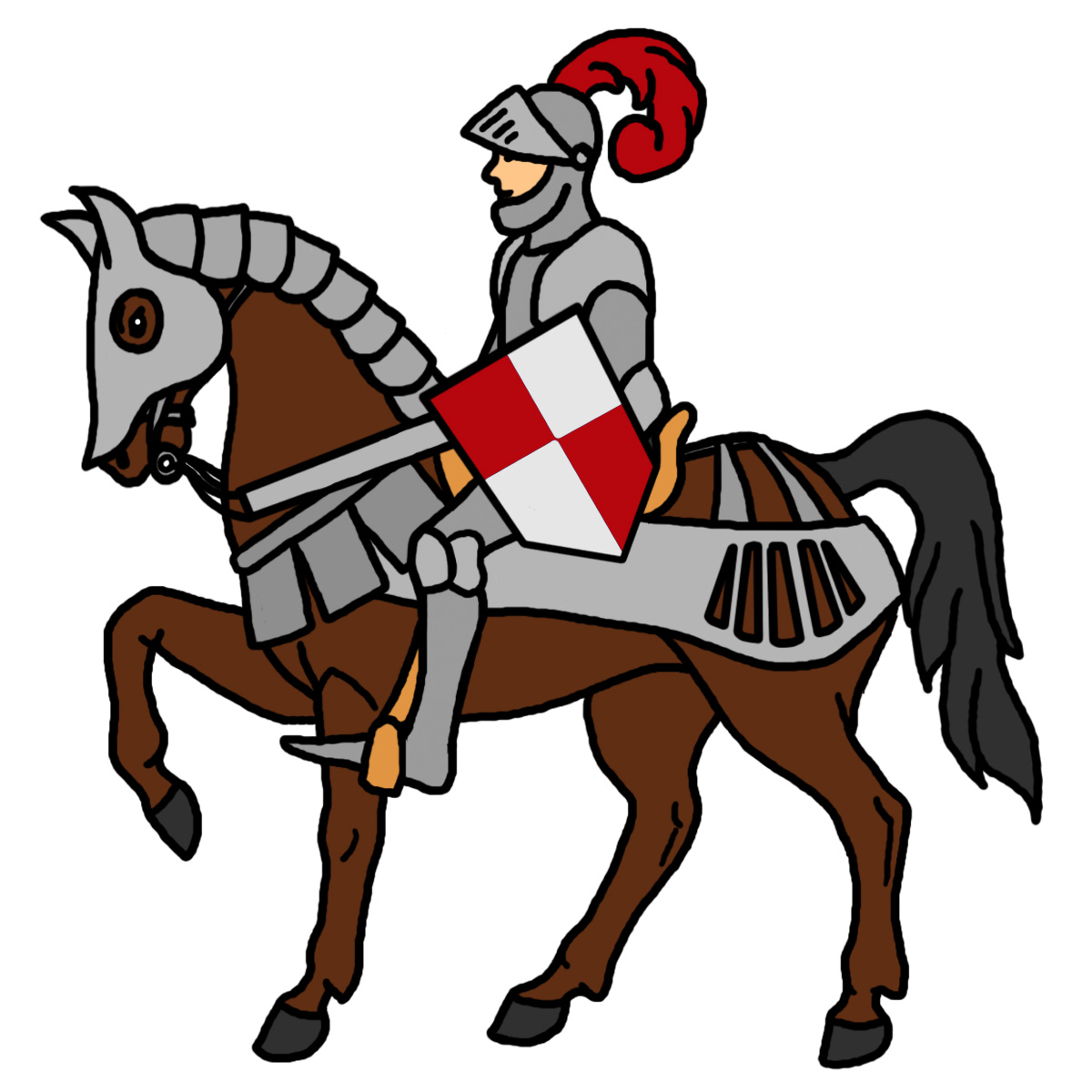 Medieval Knight And Castle Clipart - Clipart Kid