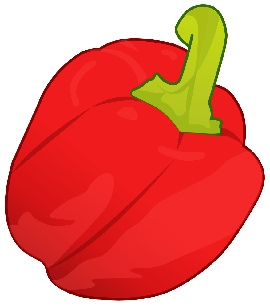 Onlinelabels Clip Art   Red Pepper