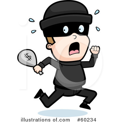 Robber Clipart  60234   Illustration By Cory Thoman