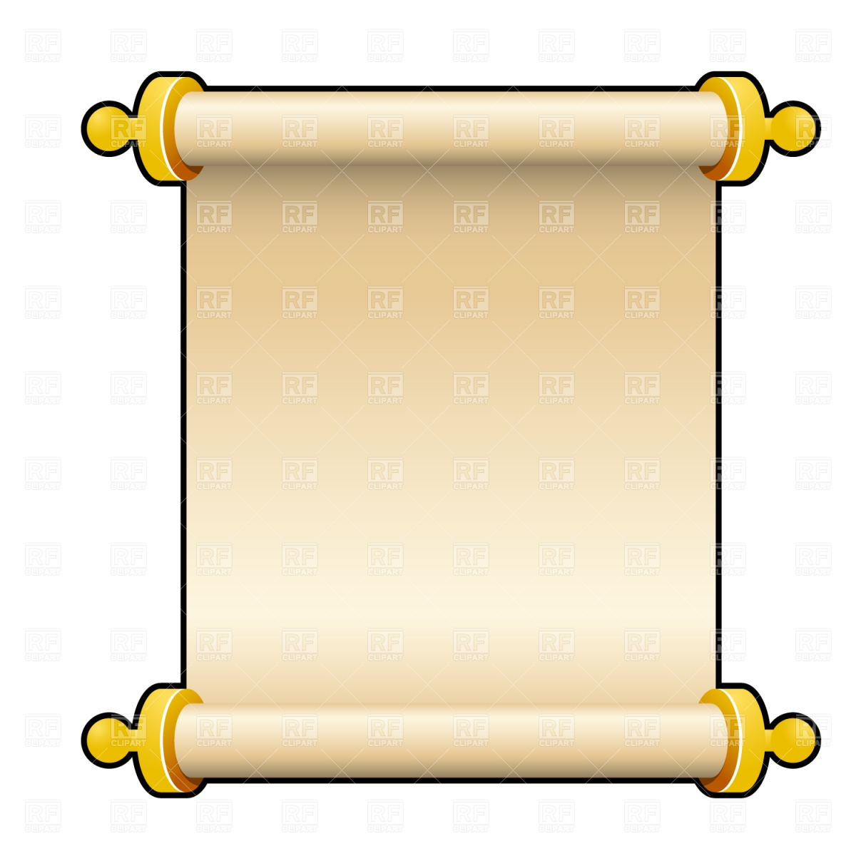 Scroll 1535 Borders And Frames Download Royalty Free Vector Clipart