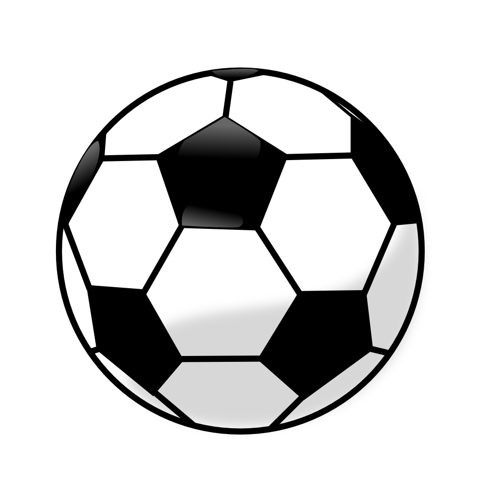 Soccer ball transparent background. Clipart kid