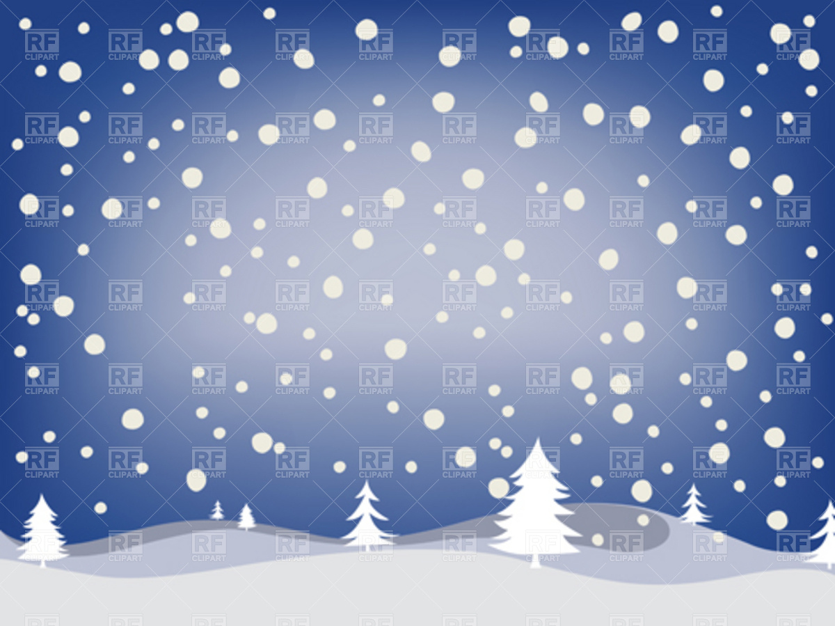 Winter Snowfall Background Download Royalty Free Vector Clipart  Eps