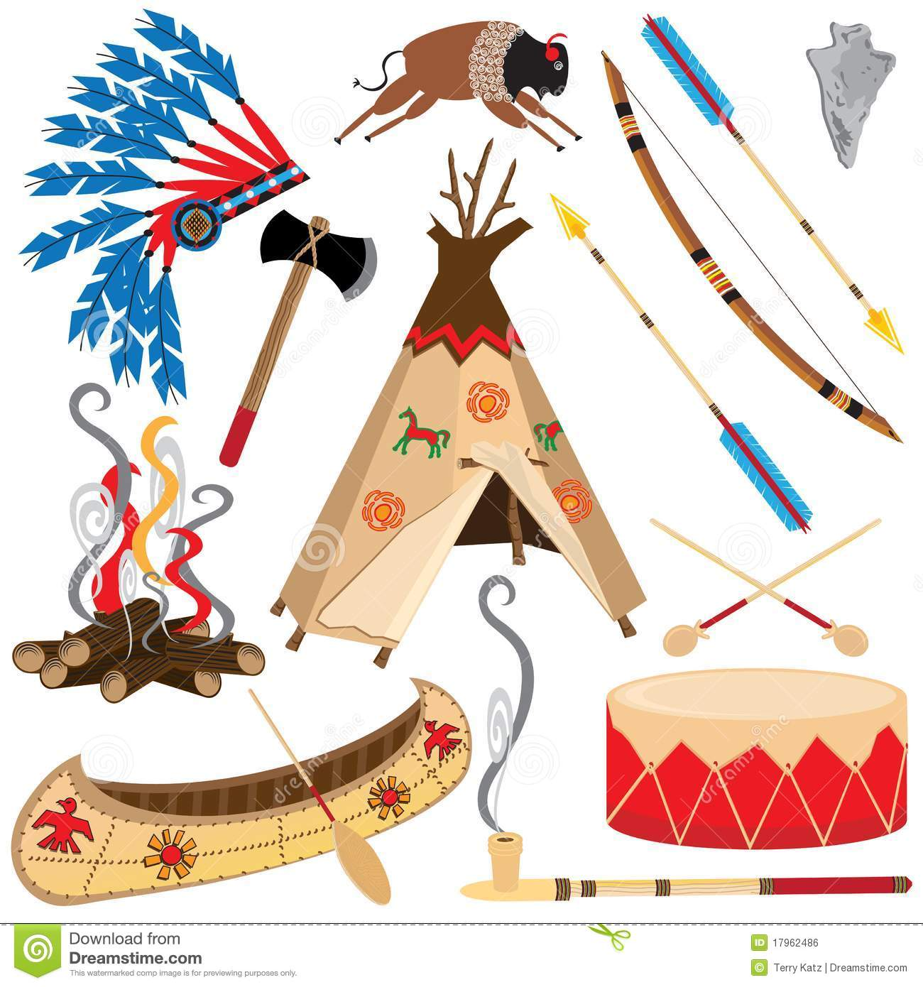 American Indian Clipart Icons Royalty Free Stock Image   Image