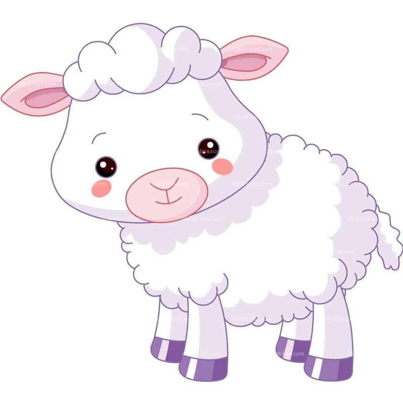 Cute Baby Lamb Clipart - Clipart Kid