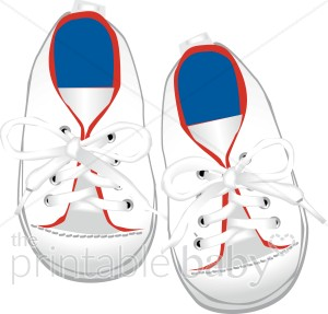Baby Sneakers Clipart   Baby Clothing Clipart