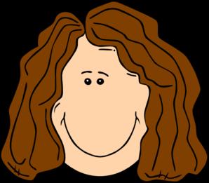 Brown Curly Hair Clipart