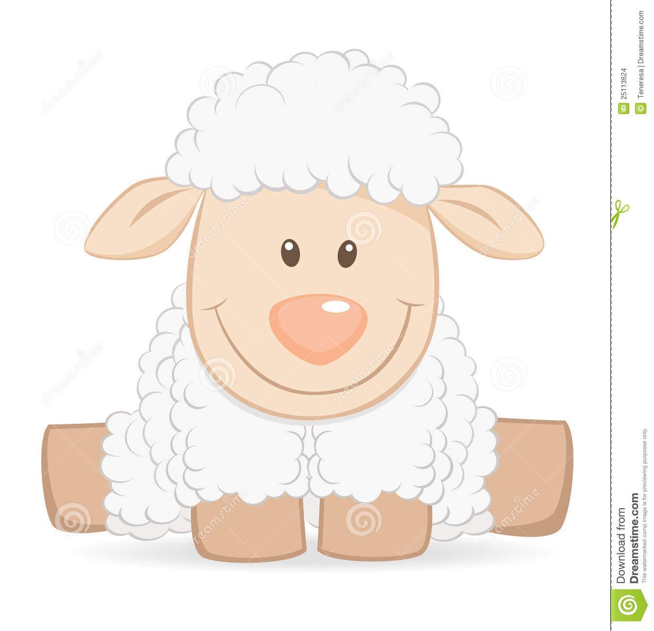 Cute Lamb Illustration