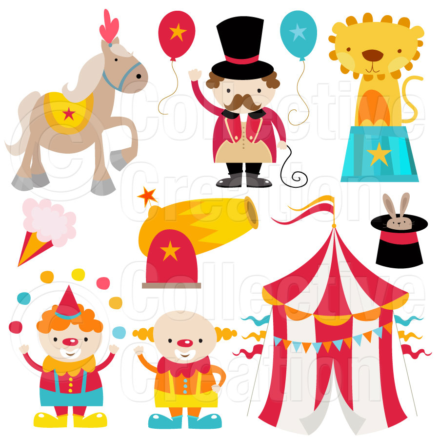 Circus Digital Clip Art Clipart Set By Collectivecreation On Etsy