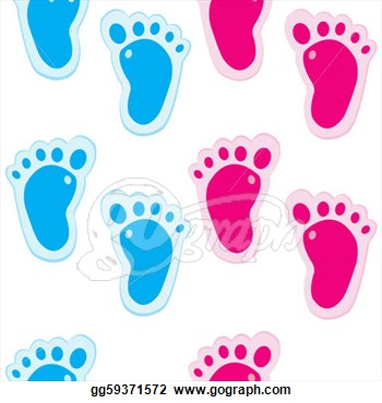 Clipart   Baby Foot Steps Background Seamless Pattern  Stock