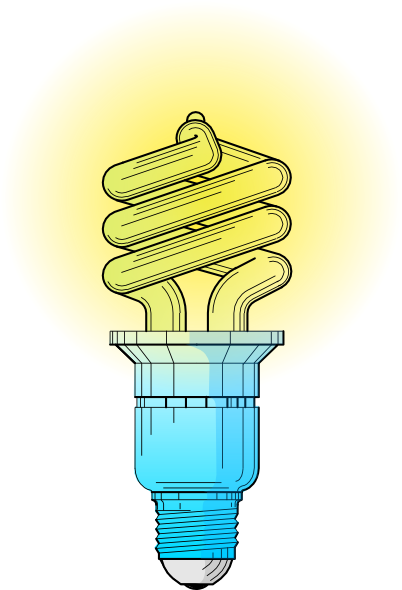 Compact Fluorescent Light Bulb Clip Art At Clker Com   Vector Clip Art