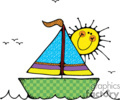 Country Style Sailboat Sail Boat Boats Water Sailing Sunshine
