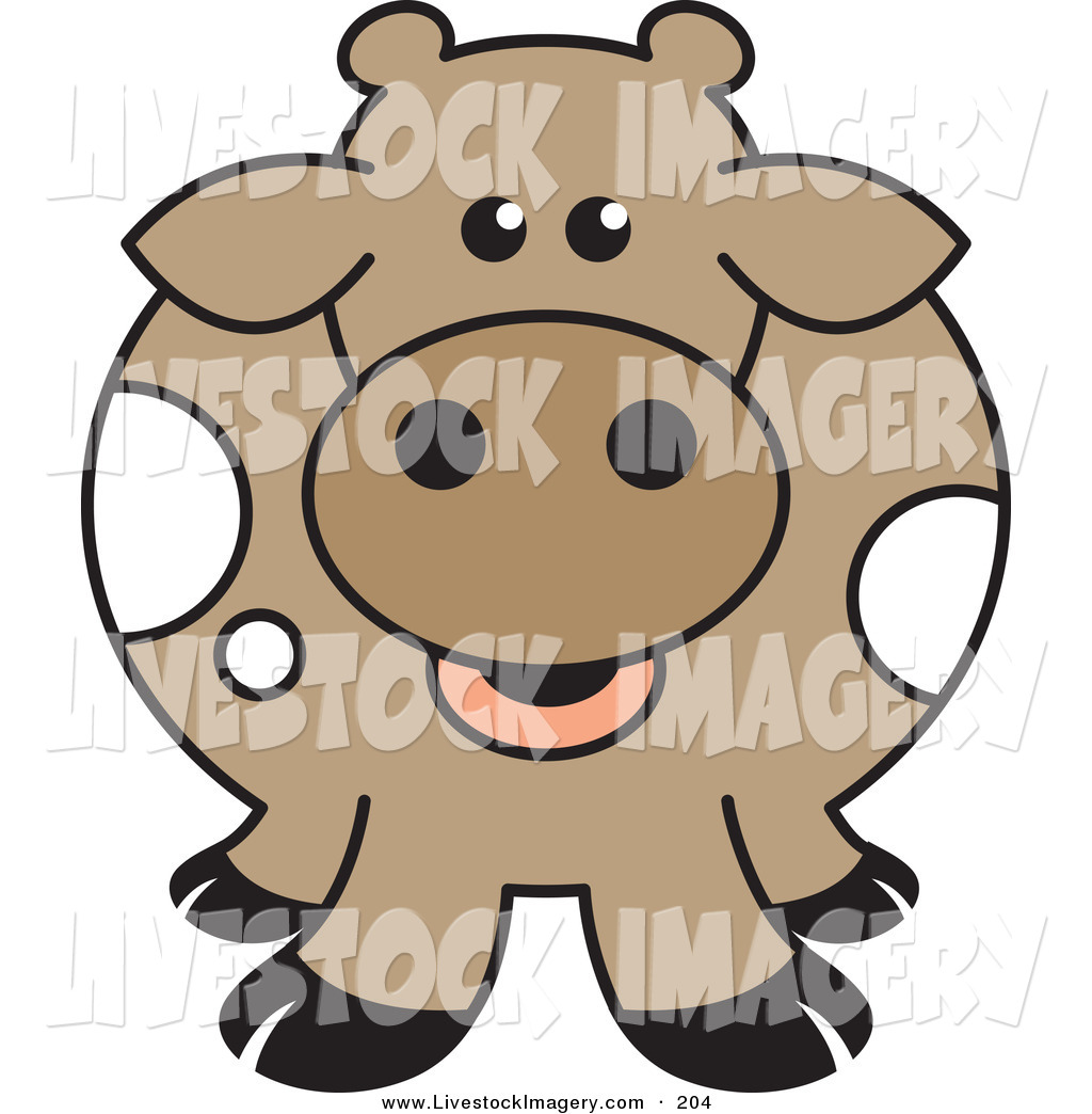 Cow Hoof Clipart Clip Art Of A Fat Brown Cow