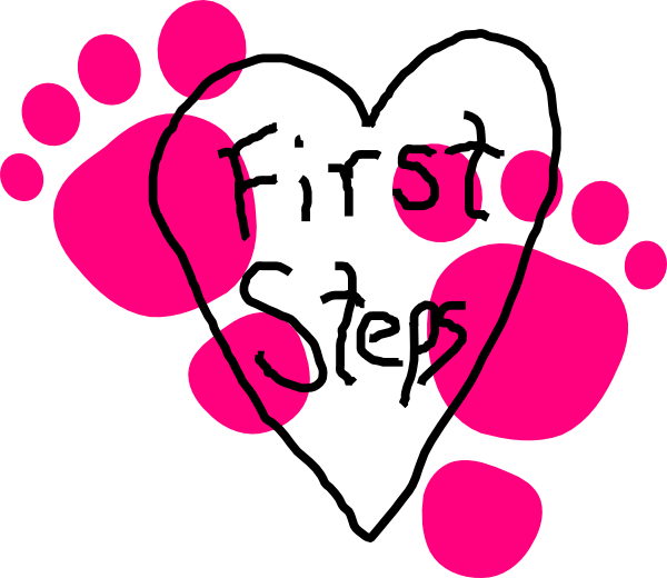 First Steps Heart Logo Clip Art At Clker Com   Vector Clip Art Online