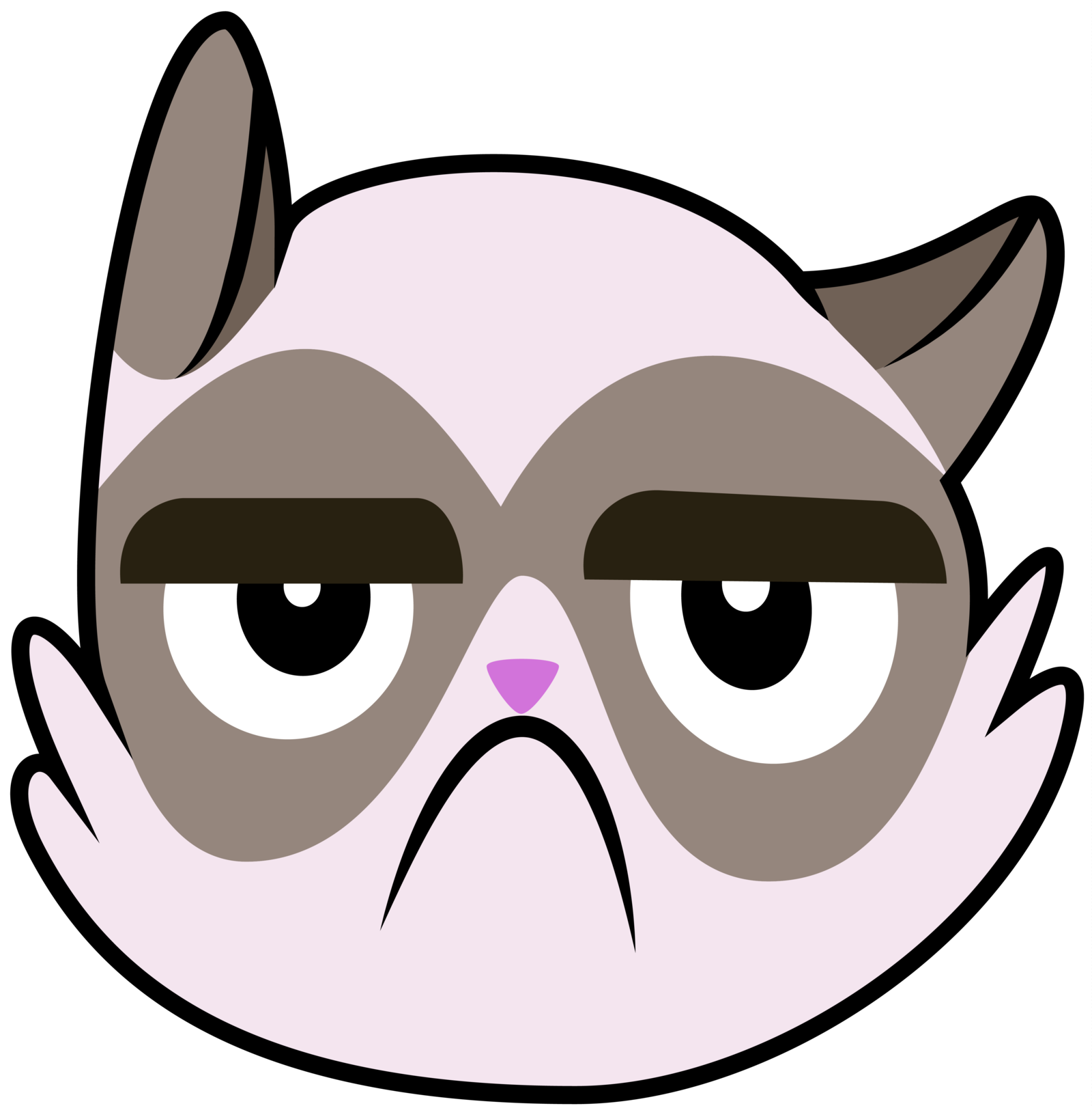 Grumpy Cat Face Clipart Black And Whiteassesprorj
